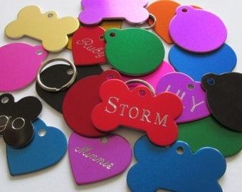 Pet ID Tag Cat Dog - All one price with same day FREE SHIPPING (Canada) engraved free both sides - Shipped from Canada