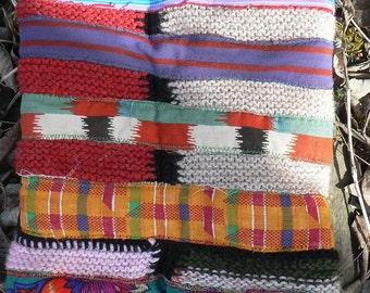 patchwork wool multicoloured headband