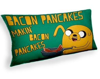 Jake the dog Bacon Pancakes Adventure Time   -  Custom Geek Fabric Cushion Pillow cover Home Decor Thrown Pillow With Inner