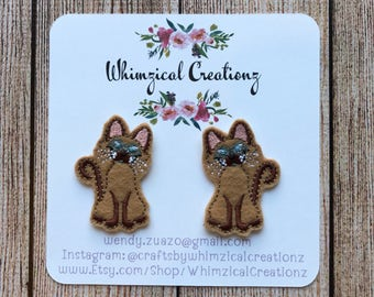Siamese Cats Shoe Clips