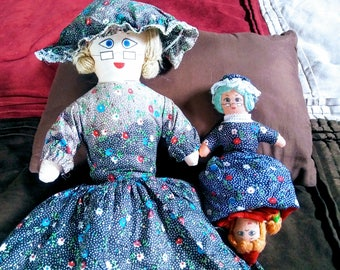 1975 Topsy Turvy Red Riding Hood - Grandma - Wolf Rag Doll