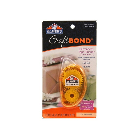Clear Permanent Glue Tape With Runner 8mm X 26
