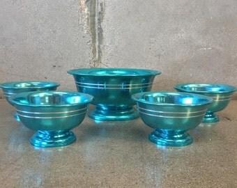 60's Anodized Aluminum Bowl Five Piece Set (WVSZBS)