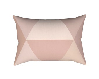 Blush lumbar pillow + INSERT. Blush pillow Dusky pink pillow Geometric throw pillow nordic cushion geometric pillow blush cushion pink decor