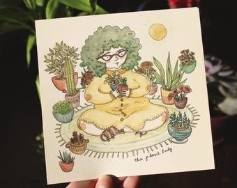 Plant Lady - art print