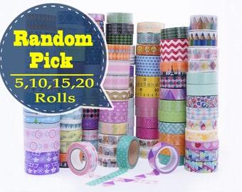 Random Pick Washi Tape /Random Washi Tape Grab Bags