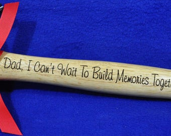 Gift For Husband ~ New Dad Gift ~ Birthday Gift For Dad ~ Dad Gift ~ Step Dad Gift ~ Engraved Hammer ~ To Dad From Baby ~ New Dad Gift ~ Dad