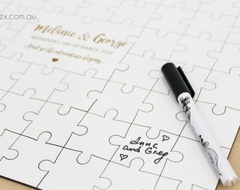 Alternative wedding guest book puzzle by Oxee, custom puzzle book