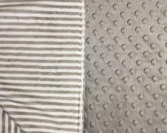 Pet Blanket Puppy Blanket Dog Blanket Grey Grey Stripe Pet Bedding Dog Bedding