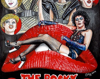 Rocky Horror Picture Show A3 poster print from original Sianypants artwork