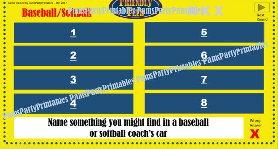 baseball/softball friendly feud game one family feud, Powerpoint templates