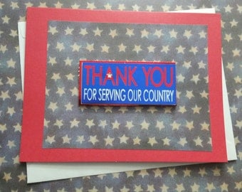 Thank You for Serving Card/Veteran/United States/Navy/Army/Air Force/National Guard/Patriotic