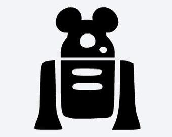 SVG disney, lego r2d2 mickey, star wars, lego star wars, disney vacation, cut file, printable,  cricut, silhouette, instant download