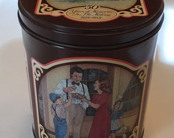 Vintage Nestle Toll House Morsels 50 Years In The Making 1939-1989 Collectible Canister Chocolate Tin