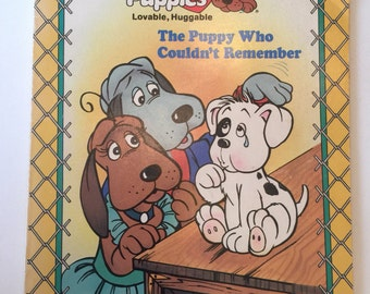 The Puppy Who Couldn't Remember by Johnson Hill illustrated by Pat Paris A Lovable, Huggable Pound Puppies Vintage Golden Book 1986