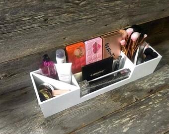 Makeup Organizer | Makeup Storage | Makeup Case | Makeup Vanity Tray | Cosmetic Organizer | Makeup Tray | Gift for Her | Makeup Brushes