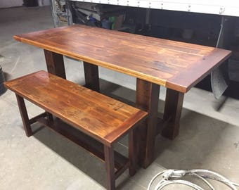 Reclaimed Breadboard Trestle Table