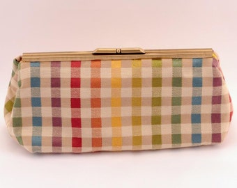 Multi- Colored Clutch - Yellow Interior