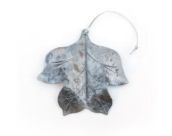 Ornament: Hand-forged Tulip Poplar Leaf