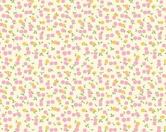 Vintage 30's Reproduction Pink Floral from Washington Street Studio by the yard