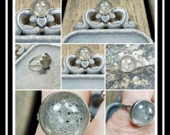 Memorial Ash Ring/ Pet Memorial Jewelry/ Cremation Jewelry/ Sentimental Jewelry/Memorial Ash Ring