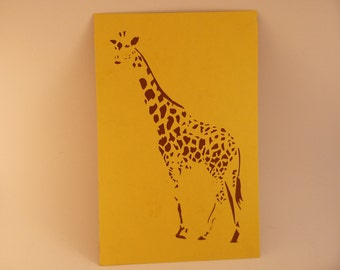 Paper Cutting Art - Giraffe