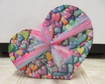 Valentine Decor-LARGE Paper Mache Valentine Candy Heart-Valentine's Day Decor