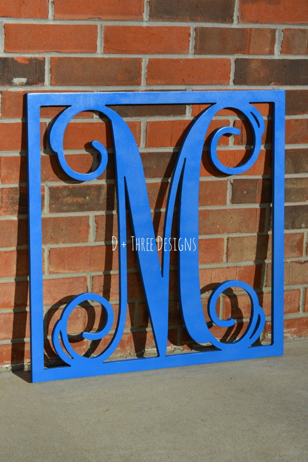 24 Inch Painted Wooden Single Letter With Square Border