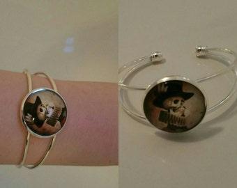 Manchet cabochon bracelets gothic horror