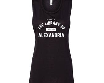 The Library of Alexandria | Women's Flowy Muscle Tank