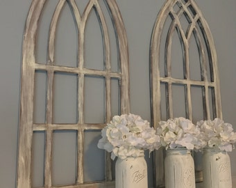 Arch window frame wall decor for Window arch wall decor