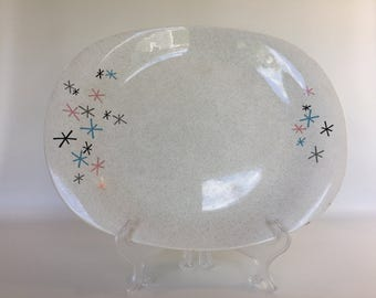 Paden City Pottery Atomic Serving Platter - Mid Century Modern