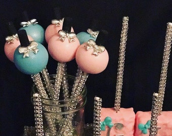 Glam Themed Spa Themed Cake Pops