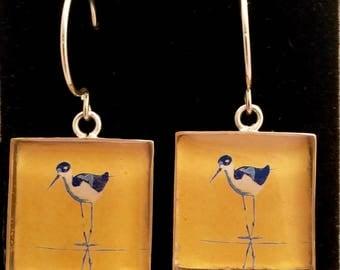 Stilt pop art earrings