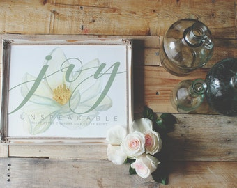 1 Peter 1:8 Joy Unspeakable Scripture Print
