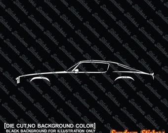 2X car silhouette stickers - For Chevrolet Camaro 1970-1973 (2nd gen) bullnose