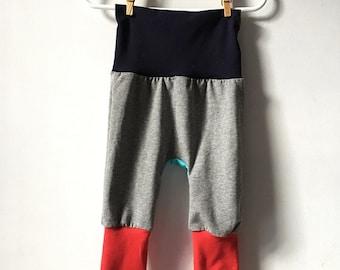 Colour block leggings (grey)
