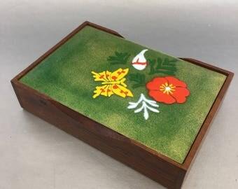 Mid Century Modern Desk Trinket Box Green Enamel Copper Anne-Marie Davison Vintage
