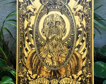 Medical Oddities Alchemy Macabre Art, Doctor Gift, Anatomy Art, Medical Oddity, Gift for Doctor, Dark Art, Medical Art, Anatomy Weird Art