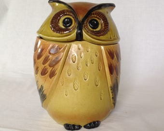 PoppyTrail Owl Cookie Jar