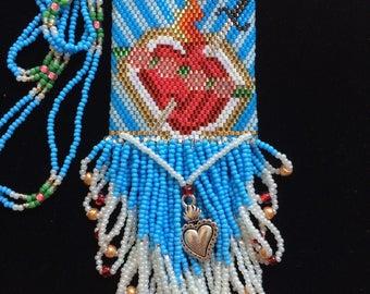 Sacred Heart of Mary Mini Amulet Bag
