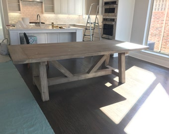 "Beam Base Dining Table with 2"" Thick Top"