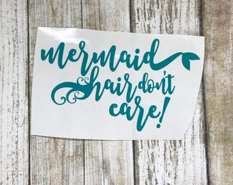Mermaid Hair / car decal / personalized decal / car sticker / mermaid decal / mermaid sticker / monogram decal /