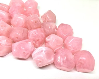 Pink Beads, Soft Pink, Acrylic Beads, The Jet-Setter Collection, 22mm beads, Colorful beads, Multi-Color Beads, Gemstones, Chunky Beads