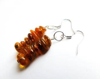 Amber earrings, handmade earrings, Baltic Amber, dangle earrings,  cluster earrings,  gemstone earrings, amber jewellery, gift for Friend