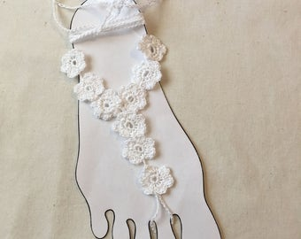 Women's Flower Barefoot Sandals - Beach - Coachella- music festival - teen accessories
