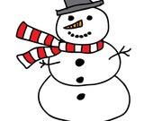 Snowman Notecards Set