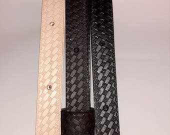 """rifle gun engrave strap 1"""" w hand made real leather adjustable from 30"""" to 42"""" long"""