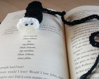 "black and white book mark ""bookworm"""