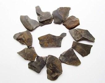 Natural Slate Rock hand gathered Black Slate Stone #S03